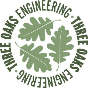 logo for three oaks engineering