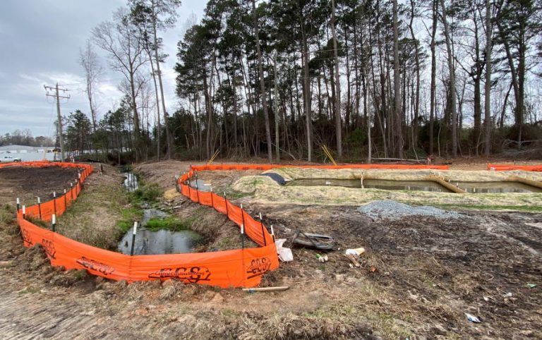 sediment control at construction site