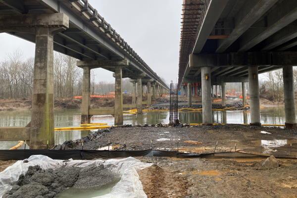 construction site on Yadkin River