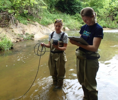 water quality monitoring in Ellerbe creek