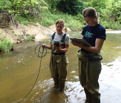 water quality monitoring in Ellerbe creek