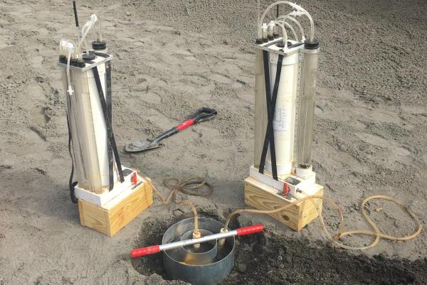 testing equipment for stormwater bioretention