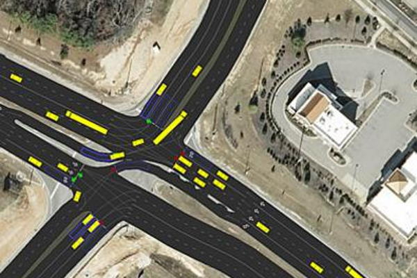 traffic intersection from simulation