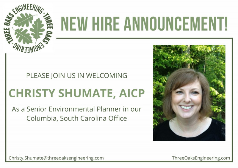 Three Oaks Welcomes Christy Shumate to Our Columbia, SC, Office!